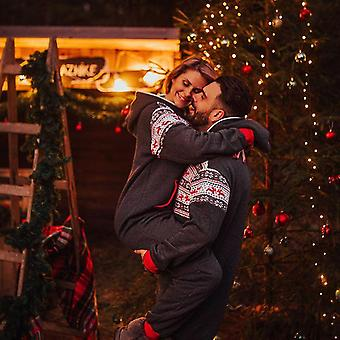 Perhe joulu pyjama hupullinen Romper Jumpsuit