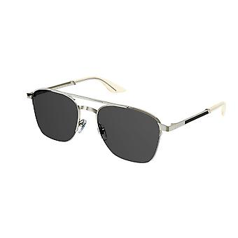Gucci GG0985S 001 Silver/Grey Sunglasses