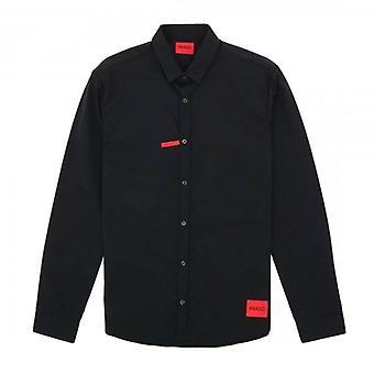 HUGO Hugo Boss Ero3-W Musta Extra Slim Fit Plain Pitkähihainen paita 50450179