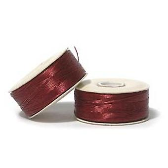 NYMO Nylon Beading Thread Size D for Delica Beads Red 64YD (58 Meters)