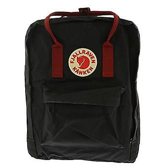 Fjallraven K nken - Unisex backpack, 13 cm x 27 cm x 38 cm, 16 L, Black (Black/Ox Red)