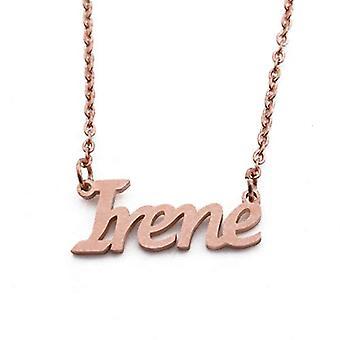 KL Kigu Irene - Kvinders halskæde med navn, rosa guld, med navn, moderigtigt, gave til kæreste, mor, søster