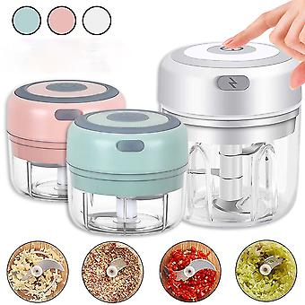 Electric Garlic Masher Vegetable Chili Meat Rugged Crusher Cutter USB Charging Masher Machine Kitchen Gadget 100/250ml