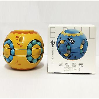 Yellow finger magic bean burger rubik's cube, children's intelligence gyro fingertip spin,decompression cube az5045