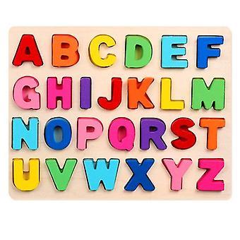 لغز الرقمية لعب خشبية التعلم المبكر بانوراما حرف الأبجدية عدد لغز التعليم قبل المدرسي WS25764