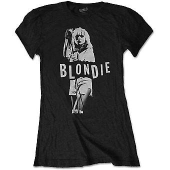 Blondie - Mic. Stand Women's Medium T-Shirt - Black