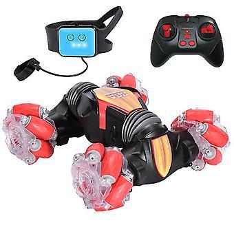 Control remoto por detección de gestos Stunt Car Drift Car con modo de paseo de perros (rojo)