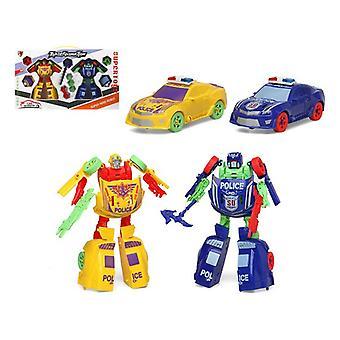 Автомобиль-робот (2 uds) Желтый синий 112659 (2 Uds)