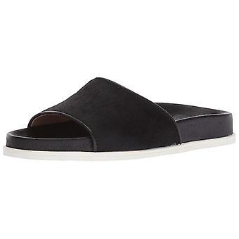 Gentle Souls Womens Iona Fur Open Toe Special Occasion Slide Sandals