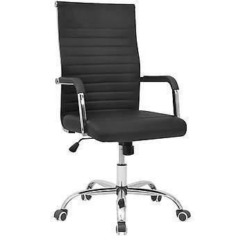 chaise de bureau vidaXL faux cuir 55x63 cm Noir