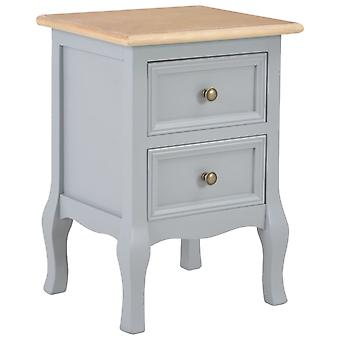 vidaXL nattbord grå 35×30×49 cm MDF