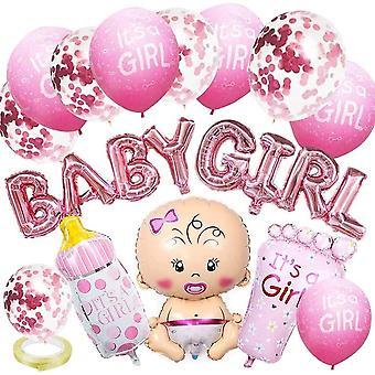 Girl Baby Dusche Party Deko Baby Shower Dekoratione 15 Stück Geschlecht Offenbaren Ballon mit Girl