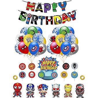 Superhelden Deko Geburtstag Superhelden Luftballons Superheld Aluminiumballon Superheld Alles Gute