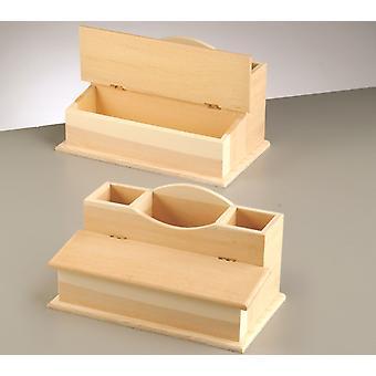 23cm bureau en bois Tidy to Decorate Formes en bois pour l'artisanat