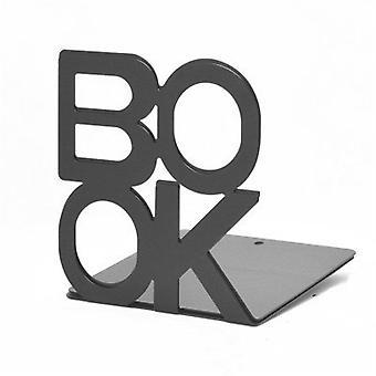 2Pairs  2pcs/Pair  Bookend Book Stand Support Sample Bookend Iron Desktop Art Non Slip Rack Shelf