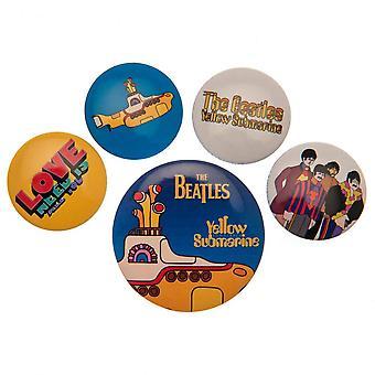 The Beatles Button Badge Set Yellow Submarine