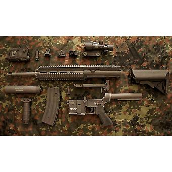 Rynnäkkökivääri M416 Sniper Rifle Diy 3d Paperi