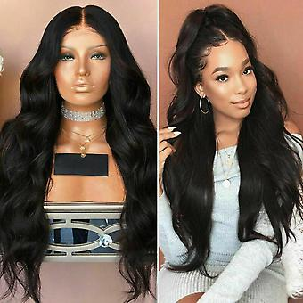 Black Women Full Long Wavy Wig Curly Hair Lace Front Wig Party Cosplay Natural