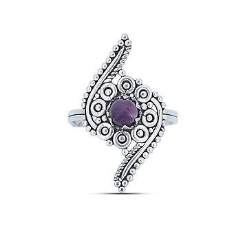 Ring Silver 925 Sterling Silver Amethyst Purple Stone (Nr: IRM 173)