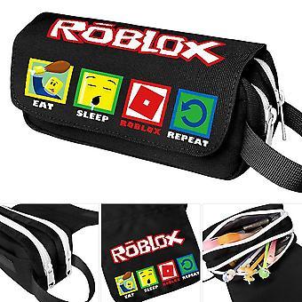 roblox Zweischicht-Federmäppchen für Kinder mit großer Kapazität (Farbe-5)