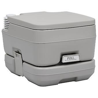 Kannettava retkeily-WC harmaa 10 + 10 l