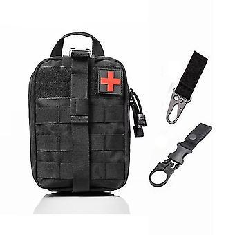 Sistema Molle táctica de primeros auxilios bolsa médica para emergencia (A-b Bolsa y 2 ganchos)