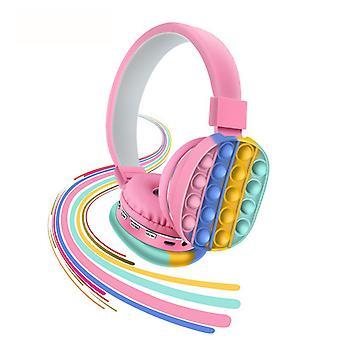 Wireless Bluetooth Headphone Stereo Headset Silicone Push Bubble Earphone Popit Headset