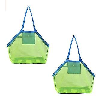 2pcs Toy Bag Beach Mesh Toy Storage For Transporting Toys And Towels Toy Beach