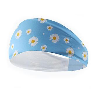Non Slip Yoga Sports Headband Small Daisy Ice Silk Fitness Hair Band