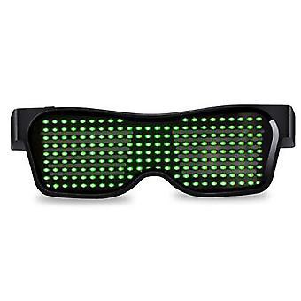 Led Bluetooth Visiiri Lasit Valoisa Led Valo Valaistu Visiiri Silmälasit Muokattavissa kuviot Usb Ladattava Dj Party Neon Party