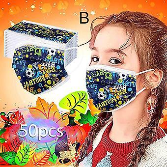 Lasten kertakäyttöinen 3-ply söpö printti kasvonaamio hengittävä suu- ja nenäsuojain