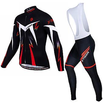 X-tiger Langærmet Cykling Tredelt jakkesæt til herre