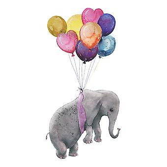 Carino elefante palloncino adesivi da parete decalcomanie sfondo sfondo carta da parati decorativa
