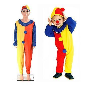 Detská móda klaun role hrá oblečenie bundy + klobúky + Nos party sviatočné dekorácie