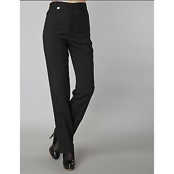 Women Black Work Pants Pockets Long Straight Pants Business Suit Pants Catering