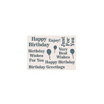 Creatieve uitdrukkingen Phill Martin sentimenteel jouwe collectie A5 stencil-verjaardag * ^^