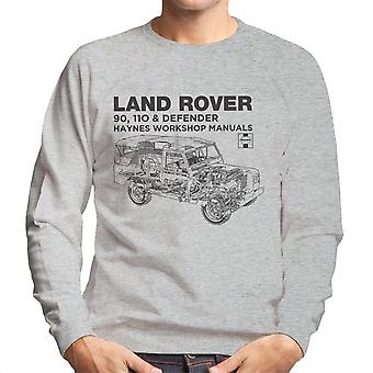 Haynes Owners Workshop Manual Land Rover Defender Black Men's Sweatshirt