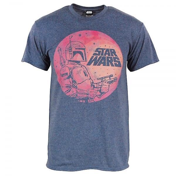Star Wars Star Wars Boba Fett Moon T Shirt Blue