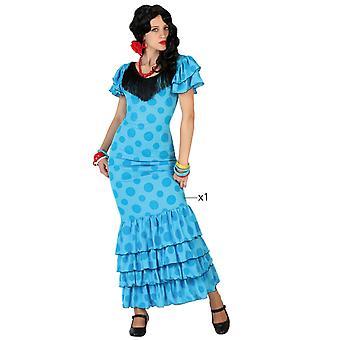 Kostüme Frauen Frauen Flamenco Kostüm blau