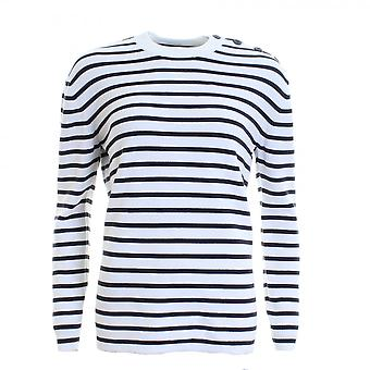 French Connection Mozart Milano Stripe Long Sleeve Womens Crew Neck