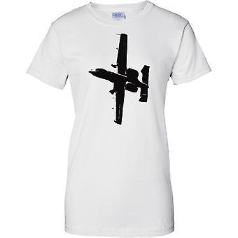 A10 Thunderbolt II Warthog Tank Buster - oss flygplan - damer T Shirt