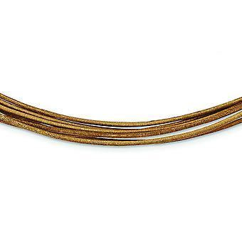Φυσικό multi καλώδιο δέρμα multi σκέλος Fancy Αστακός κλείσιμο κολιέ 16 ιντσών Αστακός νύχι κοσμήματα δώρα για τις γυναίκες