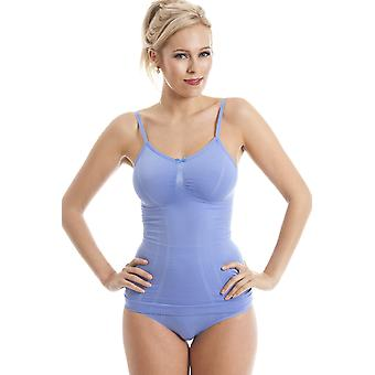 Camille Blue Shapewear Support Control Seam Free Vest Top