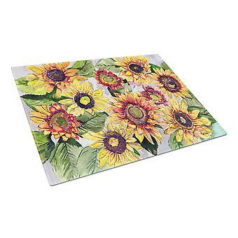 Carolines Treasures  8766LCB Sunflowers Glass Cutting Board Large