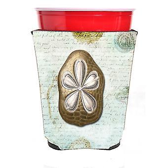 Carolines skatter SB3027RSC Sand Dollar röd Solo Cup dryck isolator Hugg