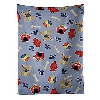 Dog House Collection French Bulldog Cream Kitchen Towel