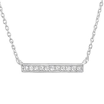 Bar - 925 Sterling Silver Jewelled Necklaces - W31114X