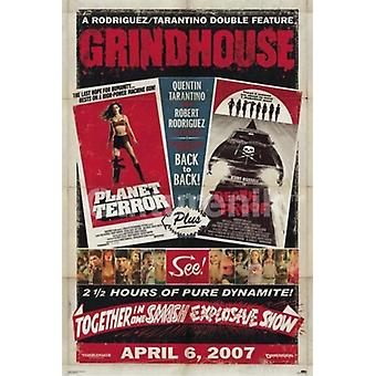 Grindhouse - Dual Death ProofPlaner Terror - Black Mural Poster Poster Print