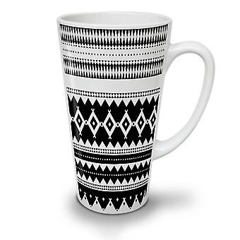 Black and White NEW White Tea Coffee Ceramic Latte Mug 12 oz | Wellcoda