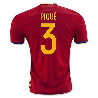 2016-2017 Španělsko domácí tričko (pique 3)